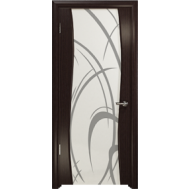 Дверное полотно Вэла ДО триплекс с рисунком эвкалипт - Арт Деко