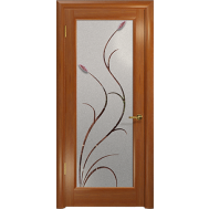 Межкомнатная дверь Лютэа-Р ДО стекло с фьюзингом темный анегри - Арт Деко